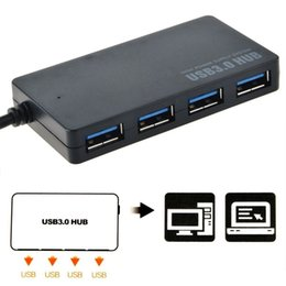 Wholesale Computer Laptop Wholesale Supply - Protable Compact Design 5Gbps USB 3.0 4 Port Hub USB3.0 Splitter Adapter Ultra Speed for Laptop Computer PC High Power Supply