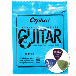 Электрические гитарные струны Orphee RX15 / RX17 / RX19 Tone Loud and Comfortable Feeling Guitar Parts (с 3 бесплатными гитарными выборами) от