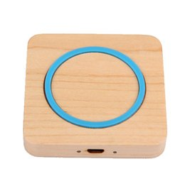 Wholesale Uk Bamboo - Square Wooden Bamboo Wireless Charger DHL Free universal Qi Wireless Charging Pad for iphone and android