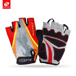 Wholesale Special Designed Gloves - Nuckily Shock proof glove foam padding palm gel pad cycling glove Nuckily antislip with special design glove N3554