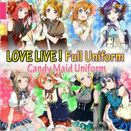 Wholesale Maid Uniform Cosplay - Japanese Anime Love Live Tojo  Umi Koroti  Eli  Hanayo Nico  Rin Honoka Candy Maid Uniform Princess Lolita Dress Cosplay Costume