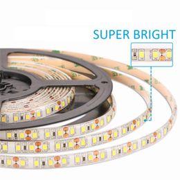 Wholesale Diode Rgb Led - High Brightness 5M 600led SMD 2835 LED Strip Non waterproof DC 12V Diode Tape 120led m Super Brighter than 3528 Flexible Light