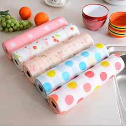 Wholesale Plastic Rolls For Waterproofing - New Drawer Paper Plastic Printed Wallpaper Waterproof Colorful drawer mat Wardrobe mat Kitchen Cabinet mat For All Purpose IA558