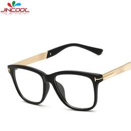 Wholesale Top Brand Eyeglasses Wholesale - Wholesale- JinCool New Tom Designer Eye Glasses Men 2017 Top Quality Brand Eyeglasses Women Frames Optical Myopic Glasses Frame Oculos S365