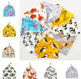 Wholesale Head Cap For Winter - INS Fox Hat For Girls Boys Head Wraps Beanies Flamingos Children Winter Baby Warm Cap Kids Xmas Gifts for Baby Free Shipping