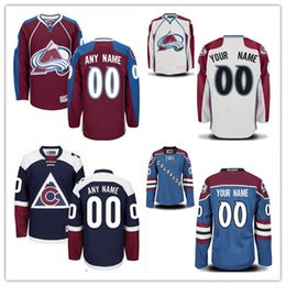 Wholesale Custom Hockey Jerseys Cheap - Personalized Colorado Avalanche Custom Mens Womens Youth Ice Hockey Cheap Jerseys Customized Home Red Away White Navy Royal Blue Third S,4XL