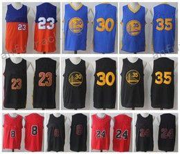 Wholesale Short Sleeveless - Men Basketball #23 JAMES #24 MARKKANEN #8 LAVINE #35 DURANT #30 CURRY Blue Orange Red Black Jerseys Short