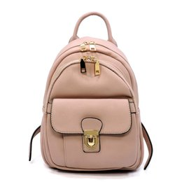 Wholesale Push Pack Bag - Richmilan-------2017Manufactory Cheap ladies packs Fashion Push Lock Pocket Backpack women leather bags