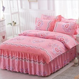Wholesale Princess Floral Bedding - 2017 new polyester bed skirt princess fitted sheet