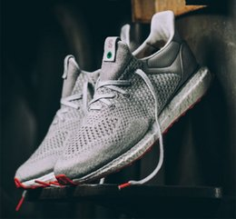 Wholesale Gray Canvas Fabric - Solebox Consortium Ultra Boost UNCAGED Gray Red S80338 Sneakers Men's and women's Casual Shoes Breathable Running Shoes Size 36-45