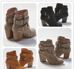Wholesale Bandage Heels - Big size 35-43!Women Boots New Women Fashion Cross Bandage Boots Lady Girls Spring and Autumn Casual High Heel Boots Shoes Free Shipping