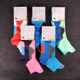 Wholesale Breathe Freely Socks - High Quality Team USA Elite Socks Thick Sweat Absorbent Soccer Socks Breathe Freely Anti Friction Professional Basketball Socks For Men