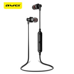 Wholesale Earphone B - Original Awei Sport Wireless Bluetooth Earphone Stereo Earphone With Microphone Sweatproof Headset For Phone Bluetooth Earbuds +B
