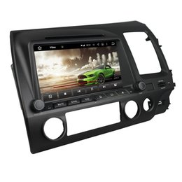 Wholesale Honda Civic Right - Android6.0 RAM 2G 8inch 1024*600 car dvd player for Honda Civic 2006-2011 right with Wifi Bluetooth USB DVR OBD Mirror link