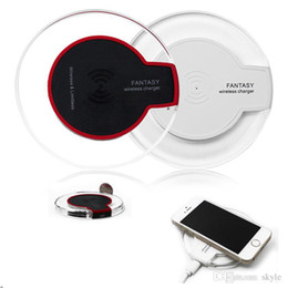 Wholesale Qi Charger S3 - Qi Wireless Charger Transmitter Pad FANTASY qi Charging Mat For Samsung S3 S4 S5 S6 EDGE Qi-abled device With Retial Package