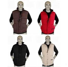 Wholesale Men S Casual Cotton Vests - Free shipping 2017 new Brand winter jacket Mens Goose Vest Down Vest Down jacket size S-XXL