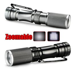 Wholesale Cree 7w Flashlight - 2017 Mini LED Flashlight ZOOM 7W CREE Q5 2000LM Waterproof Lanterna LED Zoomable Torch AA 14500 battery For Hunting