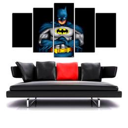 Wholesale Framed Comic - Batman Comics,5 Pieces Home Decor HD Printed Modern Art Painting on Canvas (Unframed Framed)