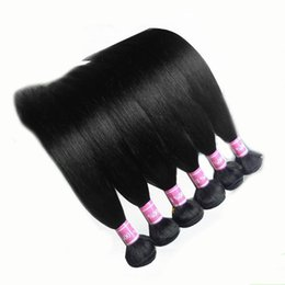 Wholesale Human Weave Hair Tangles - Brazilian Hair Weaves 30 Bundles Brazilian Straight Hair Wefts Tangle Free Natural Black Virgin Remy Human Hair Extensions 12-30inch