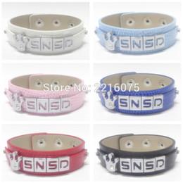 Wholesale Girls Generation Snsd - Wholesale- K-POP Girls' Generation SNSD Wristband Bracelets Alloy Slider Alphabet Charm DIY bangles free shipping