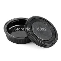 Оптовая продажа-1 пара крышка корпуса камеры + задняя крышка объектива для K10D K20D K200D K100D K-7 для Pentax PK Ricoh камеры крепление бесплатная доставка от Поставщики объектив pentax k