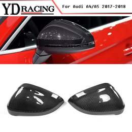 Wholesale S4 Carbon Cover - A4 A5 Replace type Carbon Fiber Car Racing Rearview Mirror Covers Caps for Audi A4 S4 RS4 & A5 S5 RS5 2017-2017