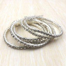Wholesale Crystal Single Row Bracelet - Fashion Transparent Fully-Jewelled Bracelets Single Row Crystal Bracelets 100pcs lot For Gift Wholesale