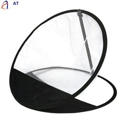 Wholesale Golf Nets Wholesale - Wholesale- AT Fish SunDay Golf Practice Driving Hit Net Training Mat Aid Driver Tool Portable Pop up levert dropship Jan17-17