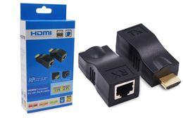 Wholesale Cat 5e Extender - 100 Feet HDMI 2.0 Single RJ45 CAT5E CAT6 CAT-5e 6 UTP LAN Ethernet 30M Extender Repeater HD 4K 1080P For PC HDTV HDPC PS3 STB