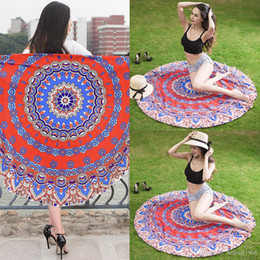 round tablecloths cotton Promo Codes - Beach Towel For Women Chiffon Round Tablecloth Picnic Mat Sunscreen Shawl Colorful Portable Blanket Home Decor Hot 19mdb J R