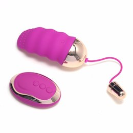 Wholesale Wireless Remote Vaginal Vibrator - Remote Control Wireless Vibrating Eggs Female Vaginal Tight Exercise Smart Love Ball Of Jump Eggs Sex Toy For Women Purple