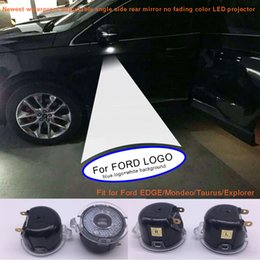 Wholesale Led Light For Mirror Car - Newest waterproof adjustable angle rear view mirror LED projector logo light for Ford EDGE,MONDEO,EXPLORER,TAURUS car side mirror logo light