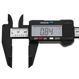 Wholesale Free Woodworking Tools - 150mm 6 inch LCD Digital Caliper Carbon Fiber Vernier Gauge Micrometer Measuring Tool in stock DHL free