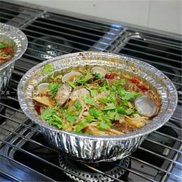Wholesale Electric Heated Lunch Box - High temperature large round aluminum foil bowl pots Aberdeen lunch card aluminum foil box barbecue roasted bowl bowl 10