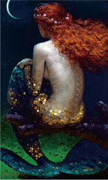 Wholesale Pig Decor - Free shipping,Victor Nizovtsev,mermaid,painting,When Pigs Fly,HOME WALL Decor Prints Realistic Oil Painting Printed On Canvas -1286