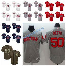 Wholesale Authentic Jersey 56 - 2017 Mens Boston Redsox 41 Chris Sale 46 Kimbrel 50 Mookie Betts 56 Joe Kelly Baseball Jersey Authentic Stitched FLEXBASE M-3XL