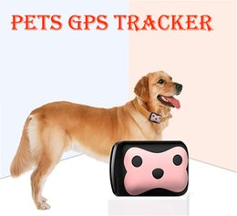 Wholesale App Hand - Mini Pet GPS Tracker Waterproof Smart GPS Tracker With Collar For Pets Cat Dog GPS+LBS Location Free APP LED Indicator