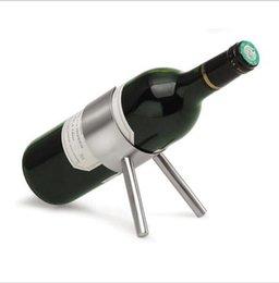 champagnerhalter Rabatt Edelstahl Weinregal Bier Flaschenhalter Regal Lagerung stehen moderne Silber Champagner Hänge Racks Bar Werkzeuge Weinhalter KKA1888