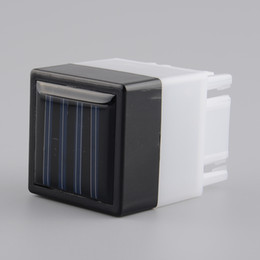 Wholesale Wholesale Garden Post Lights - Wholesale- Hot Solar Powered power LED Square White Light For Fence Post Pool Garden Yard Pathway Outdoor Christmas Decor