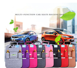 Wholesale Auto Seat Back Storage Bag Multi Pocket Organizer Holder Hanger uto Car Seat Organizer Sundries Holder Travel Organizing Box KKA1674