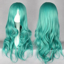 Wholesale Sailor Moon Wigs - MCOSER Free Shipping Classical Anime Pretty Soldier Sailor Moon Kaiou Michiru 65cm Long Green Wave Synthetic Wig