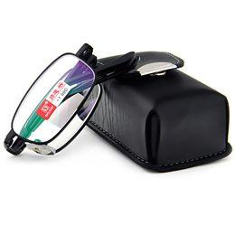c5f8015d0e3e7 2019 estojo de óculos de leitura 1.5 PU caso BLACK BELT PORTÁTIL foldable  desgaste nobre anti