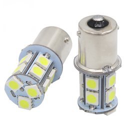 Wholesale Led Fog Light Bulb High - car led P21w s25 ba15s 1156 1157 bay15d p21 5w 13smd turn signals light bulb Car Lamp Brake Tail Parking Light red white 12v car styling