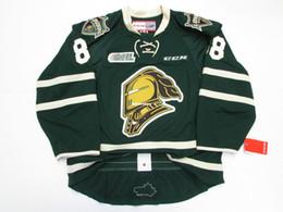 Wholesale Cheap Custom Hockey Jersey - Cheap custom PATRICK KANE LONDON KNIGHTS AUTHENTIC GREEN OHL CCM EDGE 2.0 7287 HOCKEY JERSEY Mens Throwback jerseys