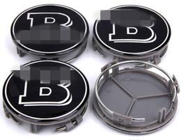 2019 centros de tapa de rueda Llantas del centro de la rueda de la aleación de Mercedes BRABUS 75 mm de diámetro - Juego de 4 centros de tapa de rueda baratos