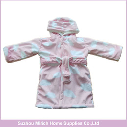 Wholesale Thermals For Baby Girls - Cute Design ,Two Colors For Girl And Boy Babies ,Supersoft Polyester fleece sherpa Baby Bathrobe,China Manufactory Supplier
