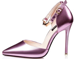Wholesale Shoes Woman Pumps - sandals gold silver pretty Leather New Designer sexxy Pumps Spring shoes women high heels