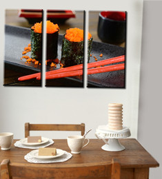 Wholesale Japanese Painting Set - 3pcs set Unframed Sushi Japanese Style Food HD Print On Canvas Wall Art Painting Art Picture For Home Decor