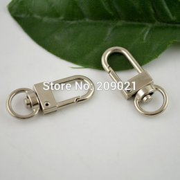 Wholesale Hooks Swivels - DIY 33*12MM Rhodium Plated Solid Swivel Lobster Claw Clasp Closure Claw Hook Buckle 100Pcs lot