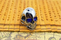 Wholesale Mens Diamond Rings Wholesale - 2017 new gold ring models for men hot selling mens personalized diamond skull ring 316l stainless steel jewelry ring